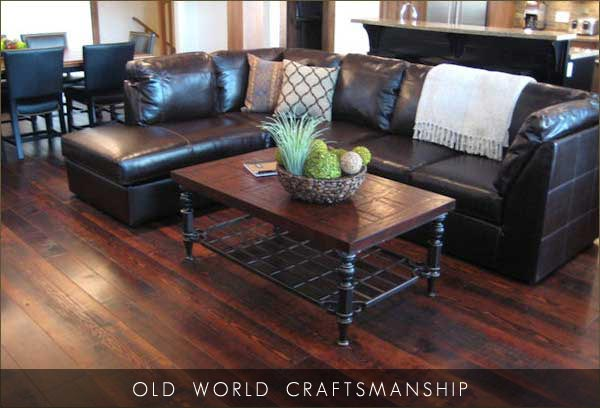Solid Wood Products Wide Plank Flooring Reclaimed Douglas Fir
